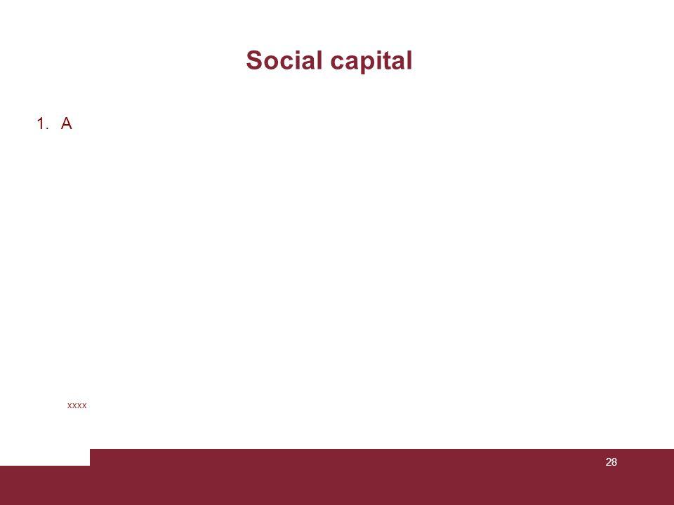 Social capital A xxxx