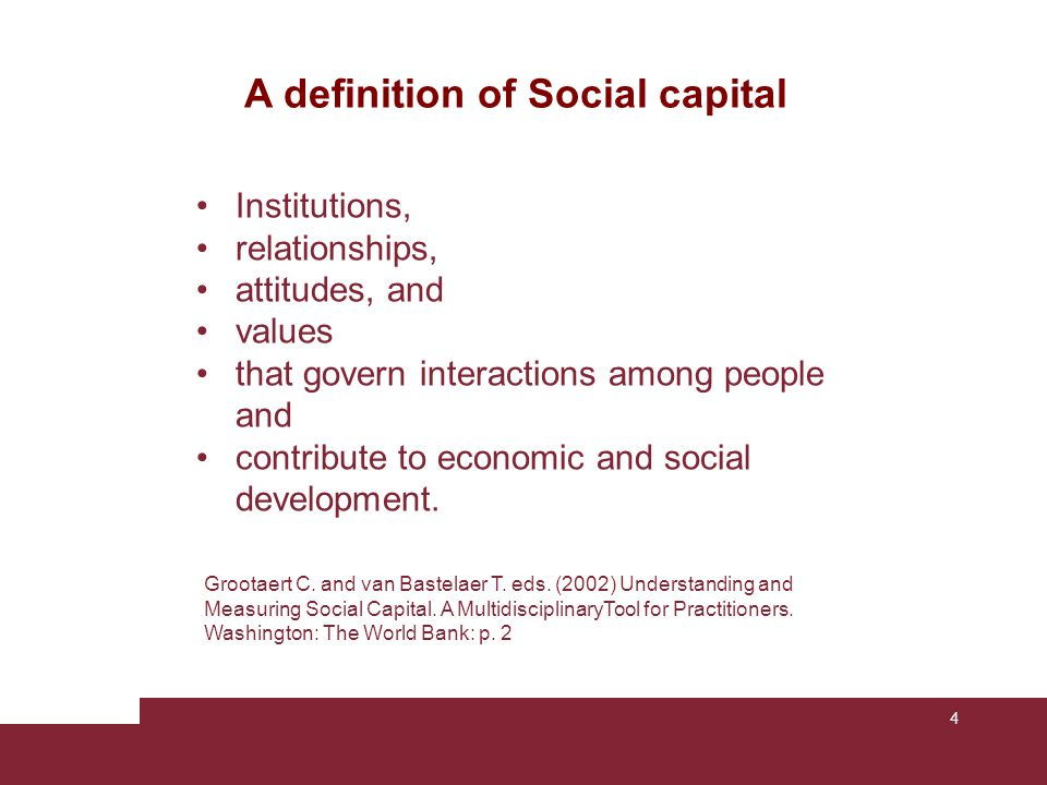 A definition of Social capital