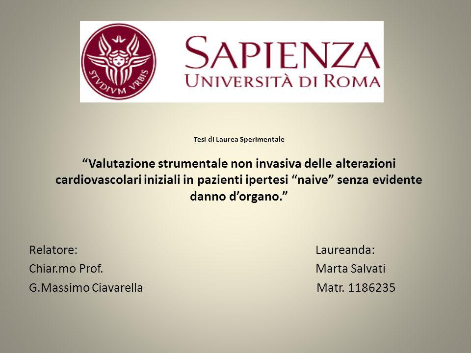 Chiar.mo Prof. Marta Salvati G.Massimo Ciavarella Matr. 1186235