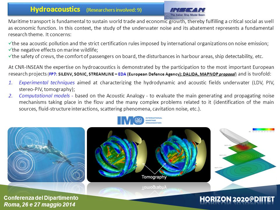 Hydroacoustics (Researchers involved: 9)