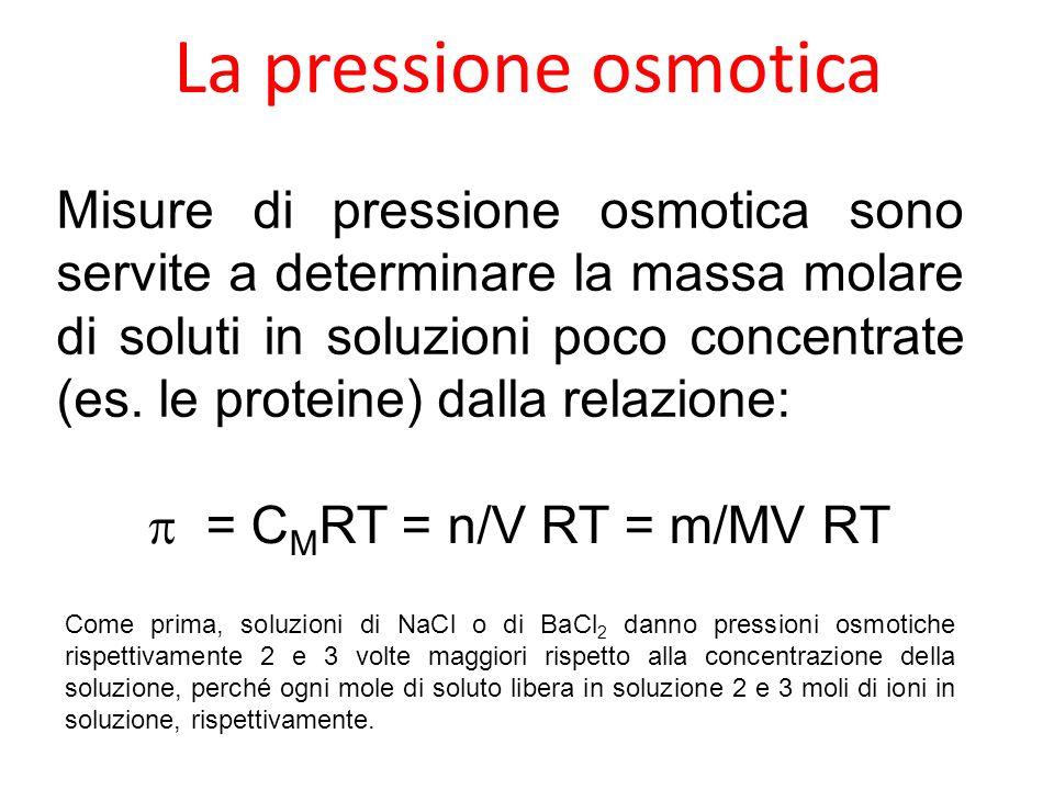 La pressione osmotica