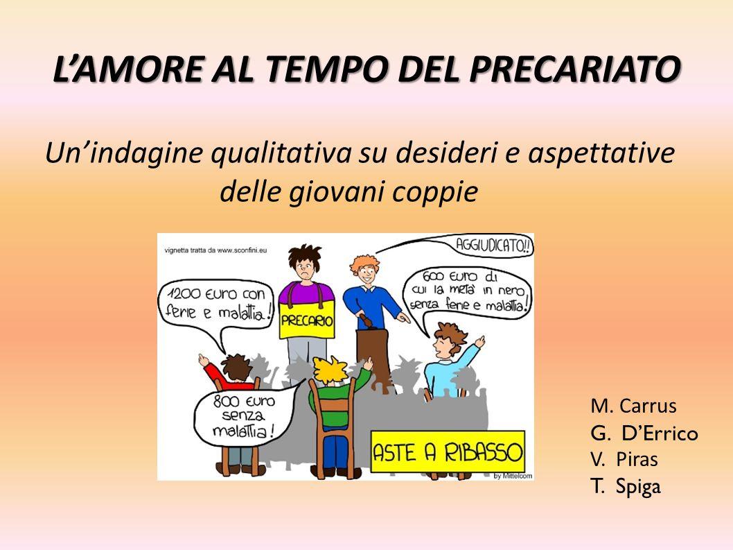 L'AMORE AL TEMPO DEL PRECARIATO