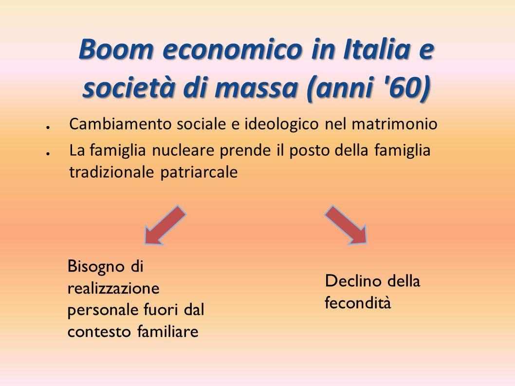 Boom economico in Italia e società di massa (anni 60)