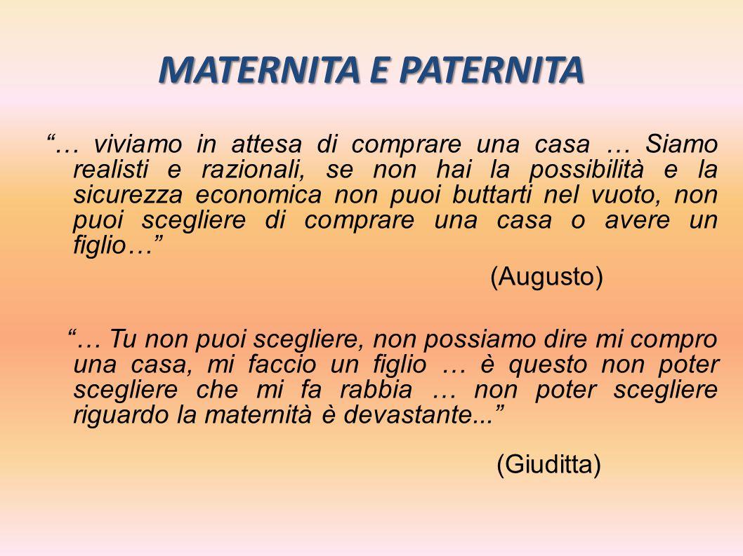 MATERNITA E PATERNITA