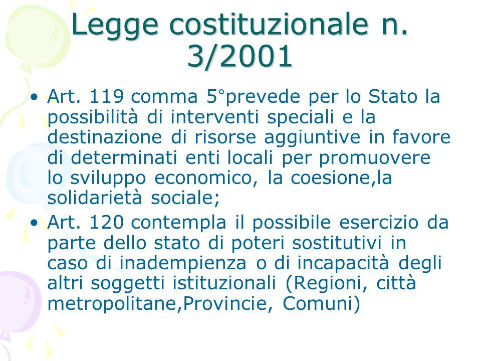 Legge costituzionale n. 3/2001