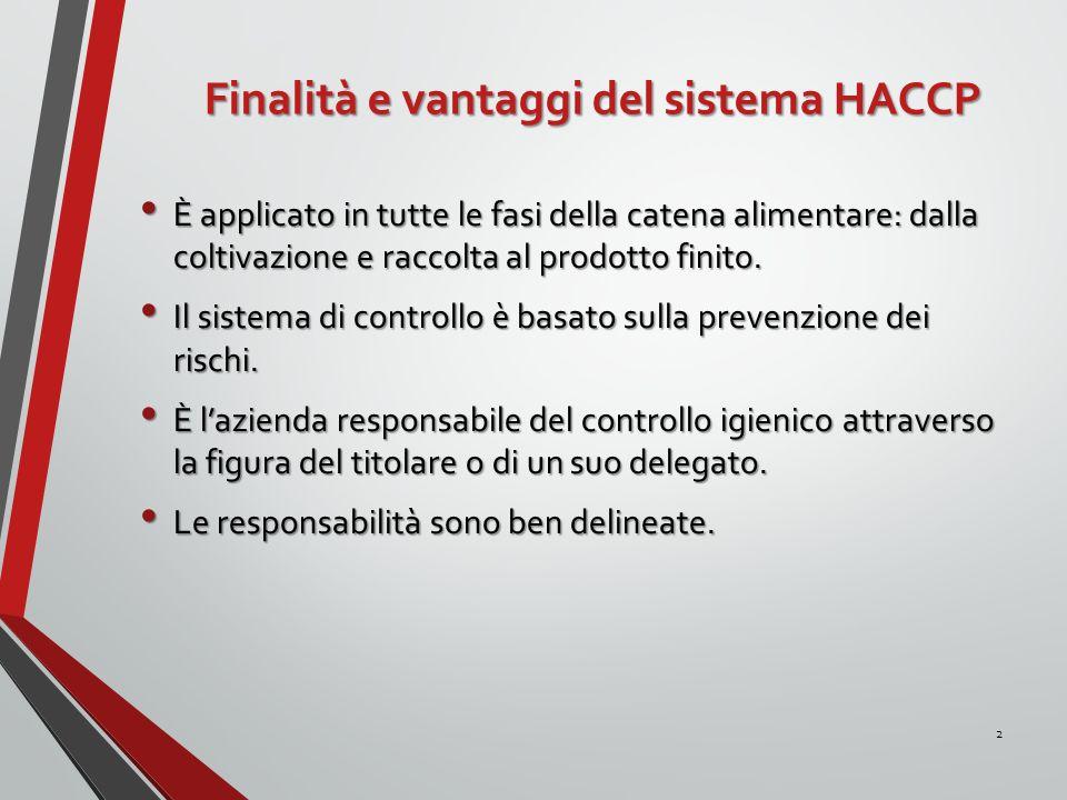 Finalità e vantaggi del sistema HACCP