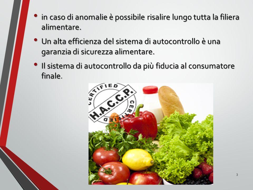 in caso di anomalie è possibile risalire lungo tutta la filiera alimentare.