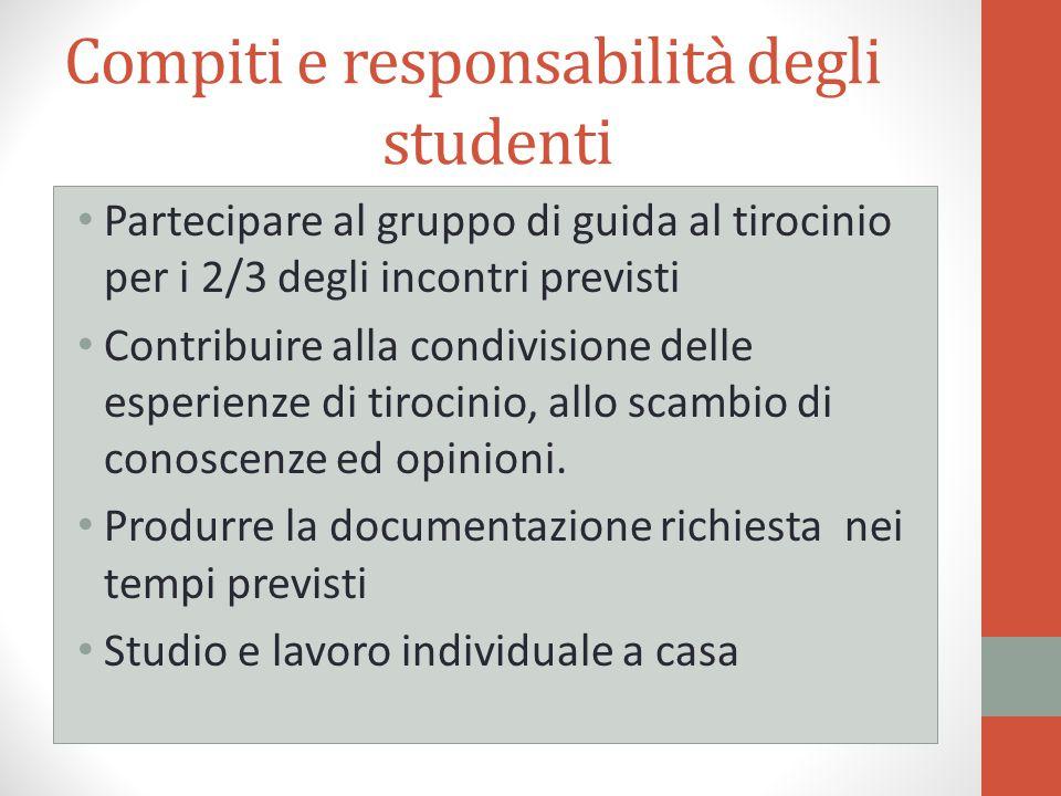 Compiti e responsabilità degli studenti