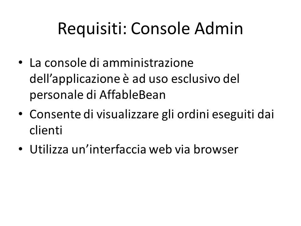 Requisiti: Console Admin