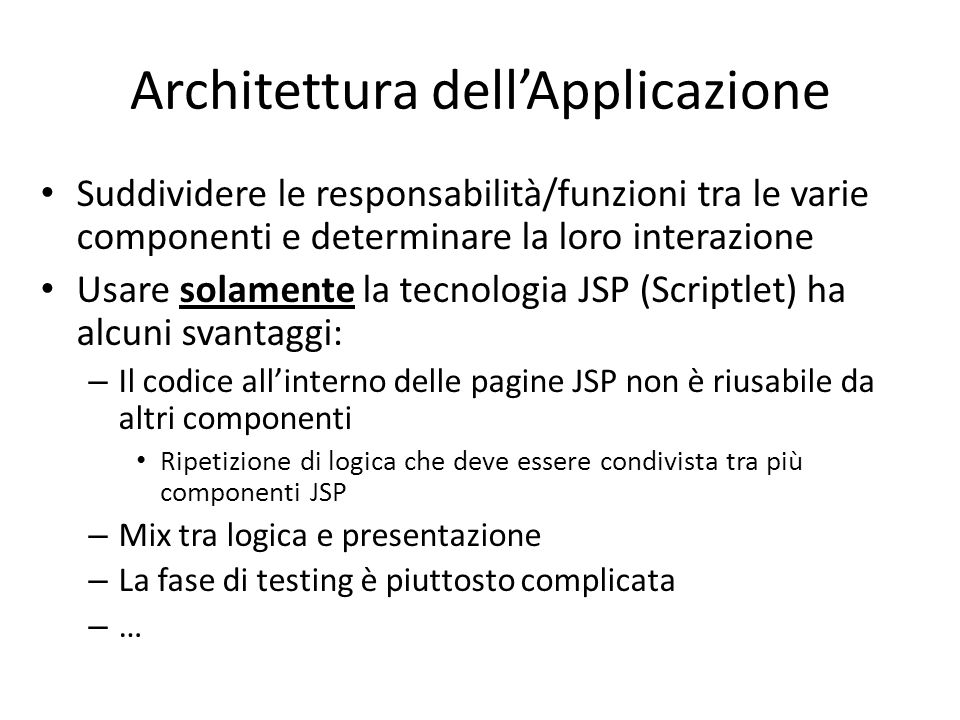 Architettura dell'Applicazione
