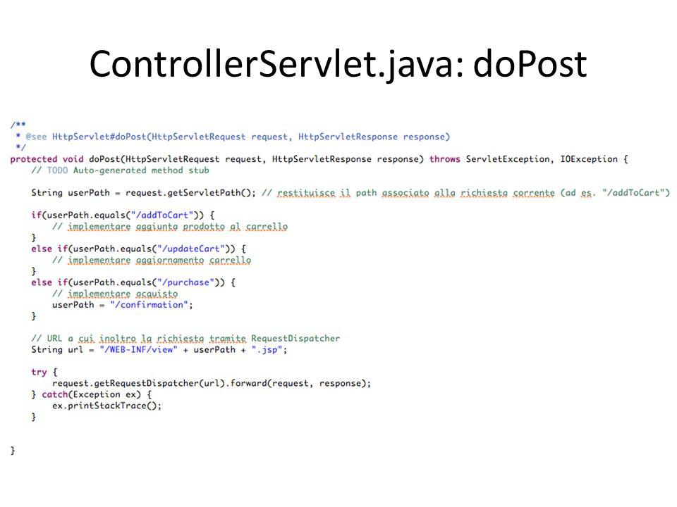 ControllerServlet.java: doPost