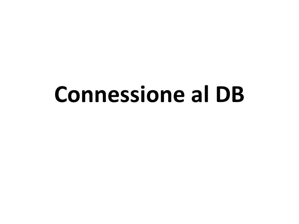 Connessione al DB