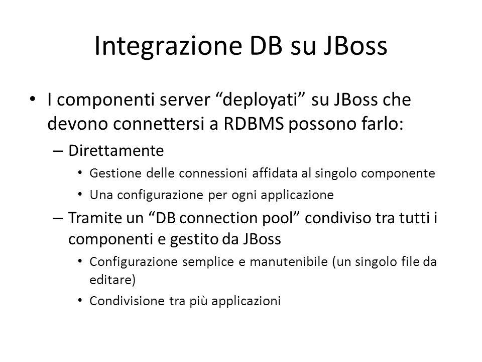 Integrazione DB su JBoss