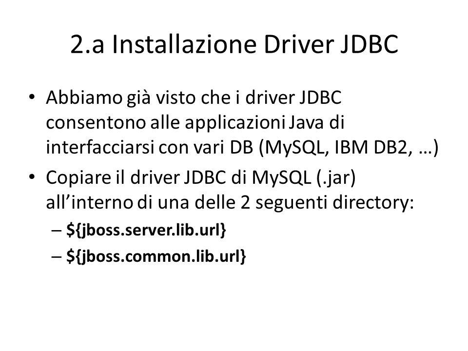 2.a Installazione Driver JDBC