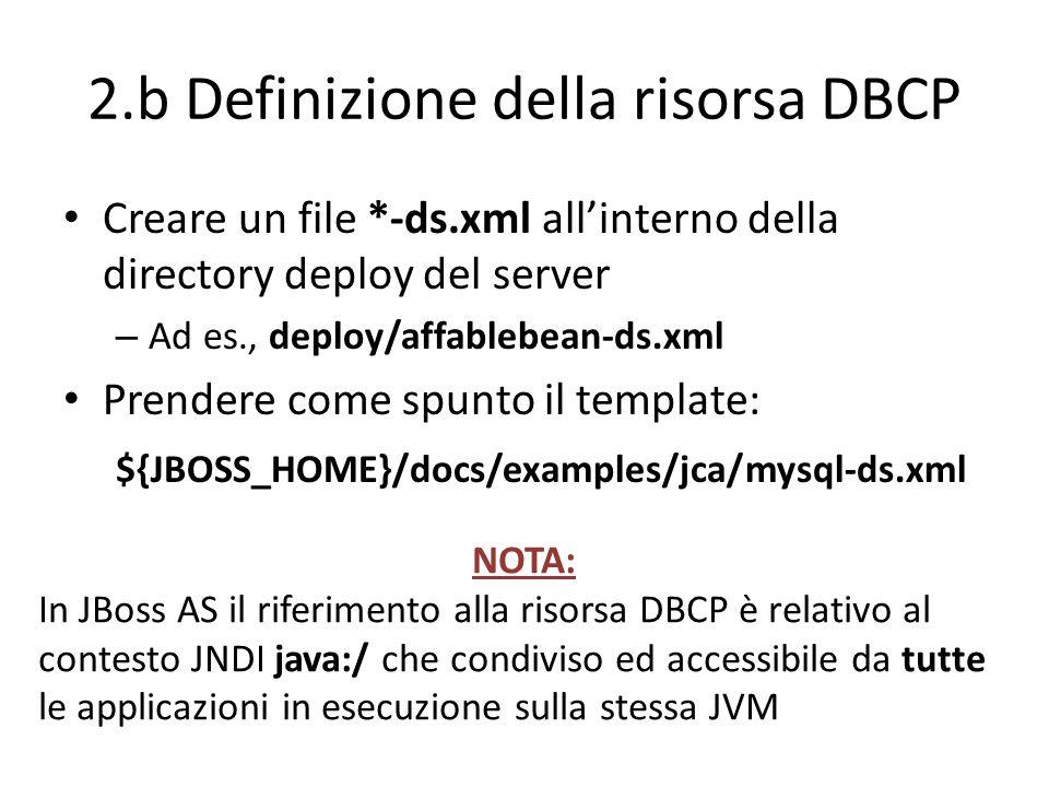 2.b Definizione della risorsa DBCP