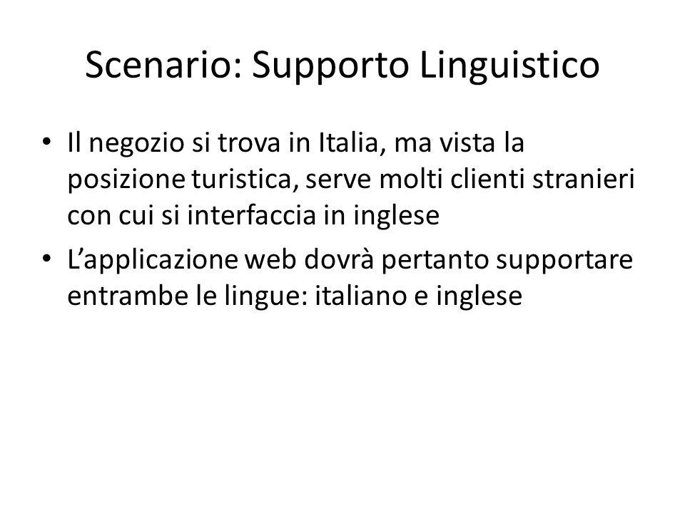 Scenario: Supporto Linguistico