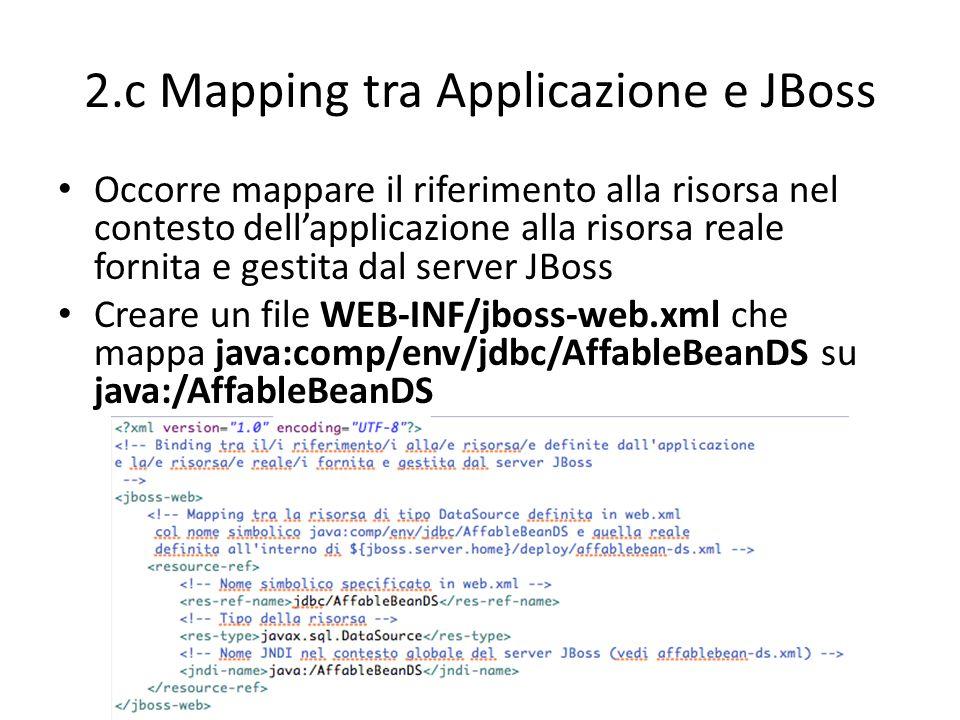 2.c Mapping tra Applicazione e JBoss