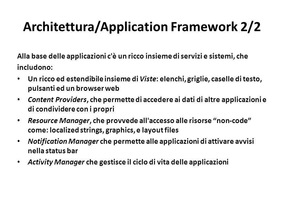 Architettura/Application Framework 2/2