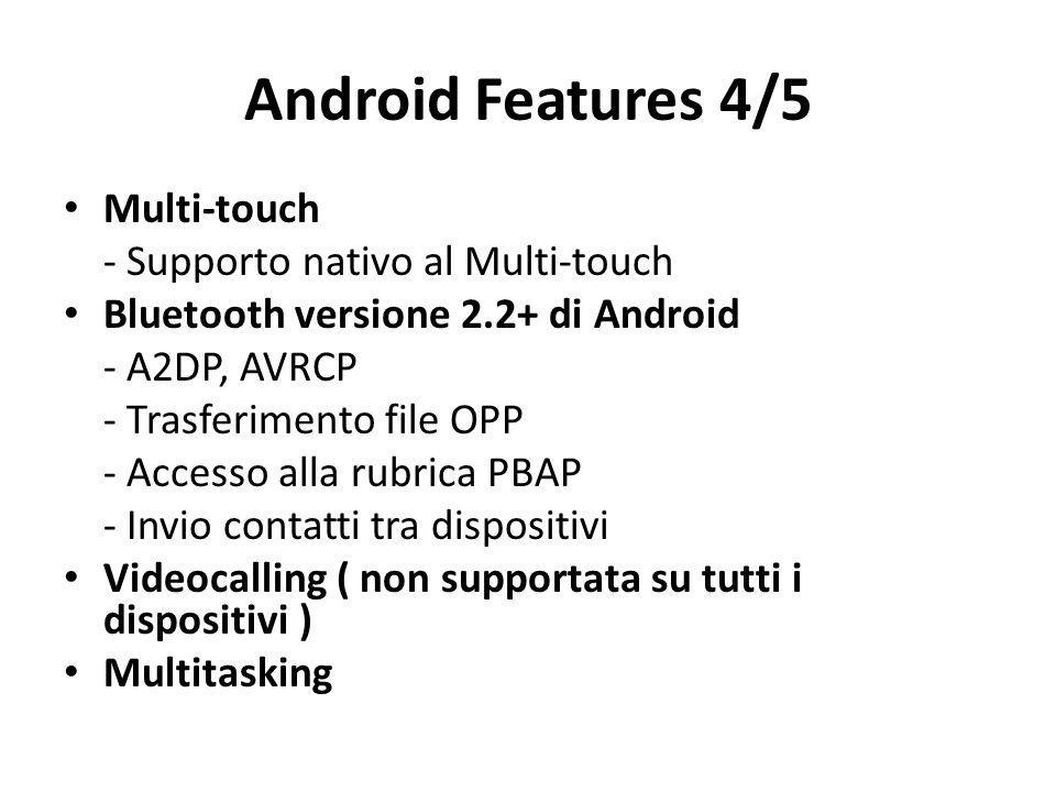 Android Features 4/5 Multi-touch - Supporto nativo al Multi-touch