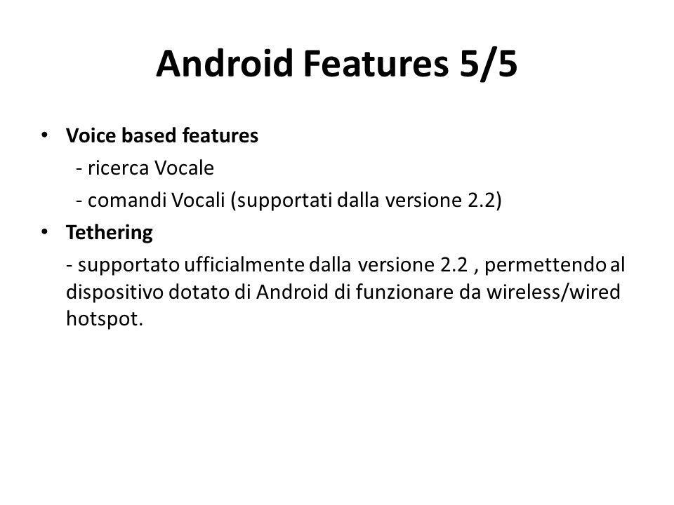 Android Features 5/5 Voice based features - ricerca Vocale
