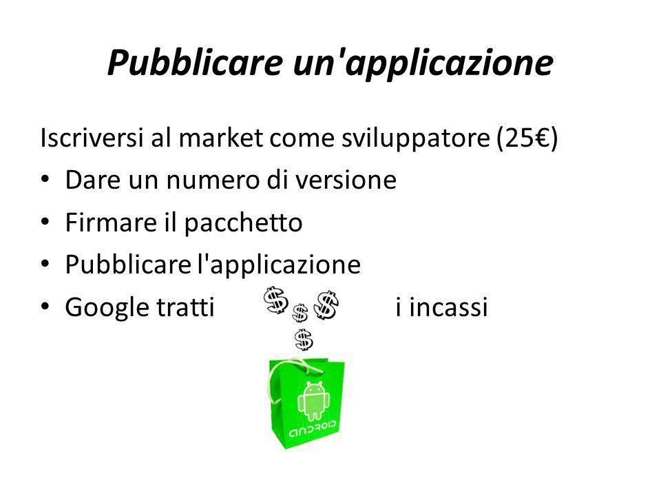 Pubblicare un applicazione