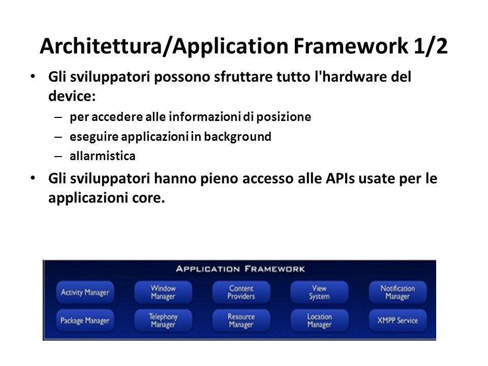 Architettura/Application Framework 1/2