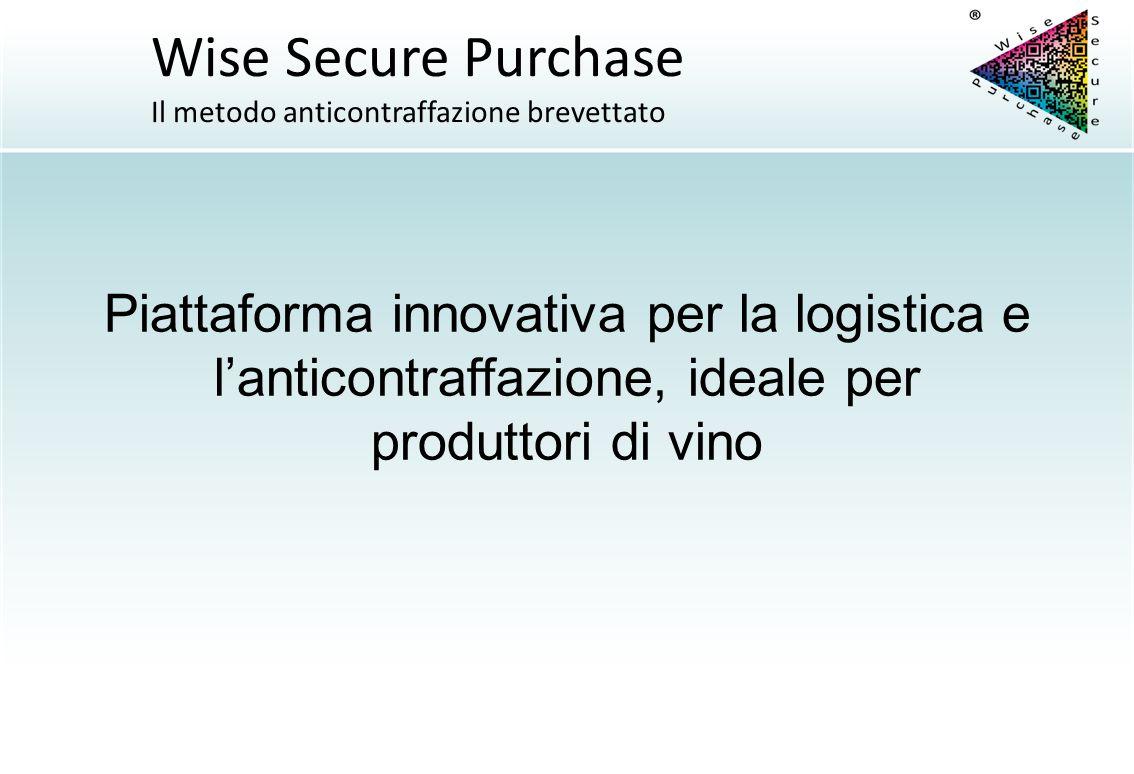 Wise Secure Purchase Il metodo anticontraffazione brevettato.