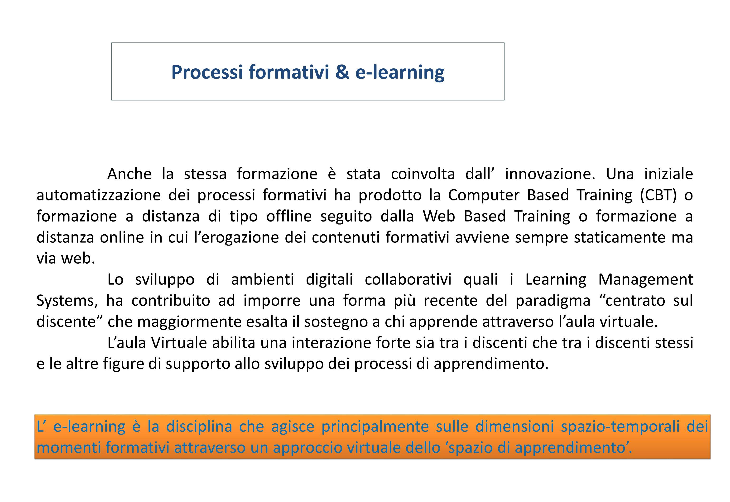 Processi formativi & e-learning