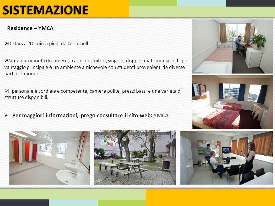 SISTEMAZIONE Residence – YMCA
