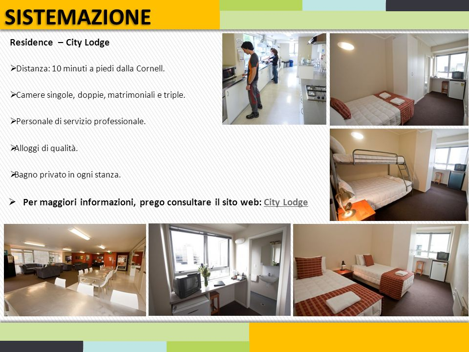 SISTEMAZIONE Residence – City Lodge