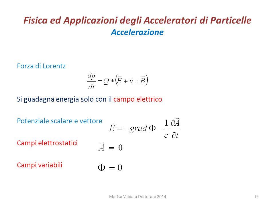 Fisica ed Applicazioni degli Acceleratori di Particelle Accelerazione