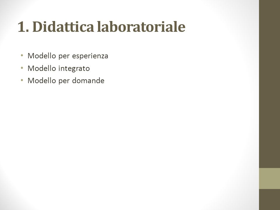 1. Didattica laboratoriale