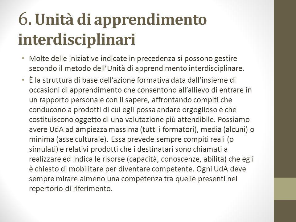 6. Unità di apprendimento interdisciplinari