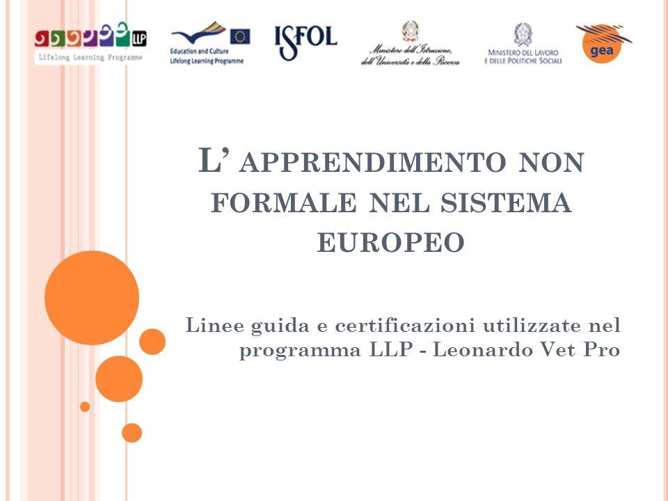 L' apprendimento non formale nel sistema europeo