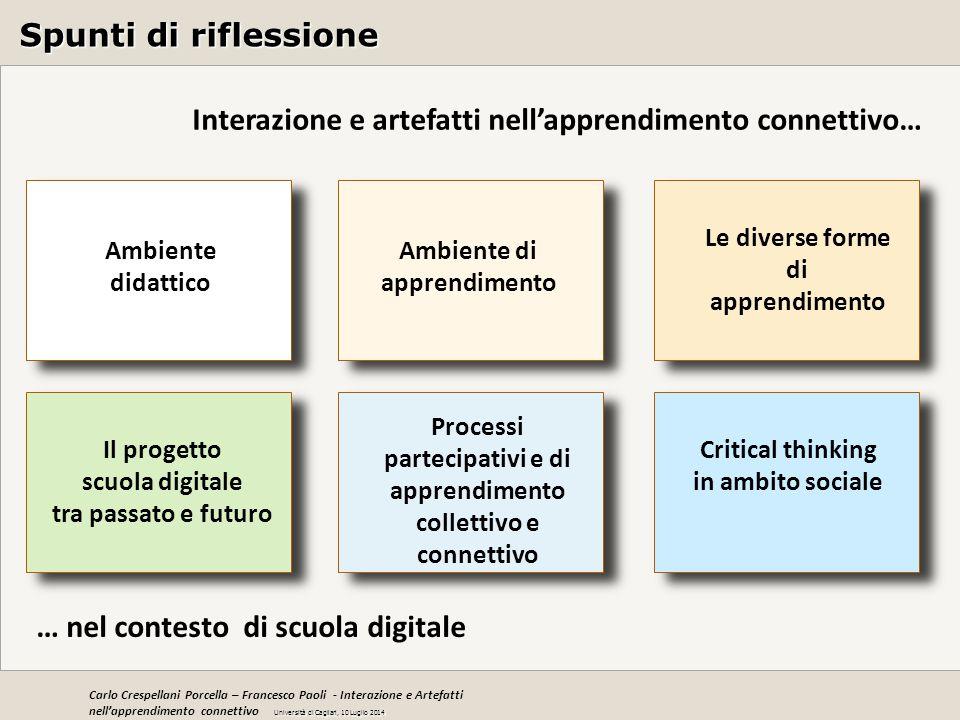 Interazione e artefatti nell'apprendimento connettivo…