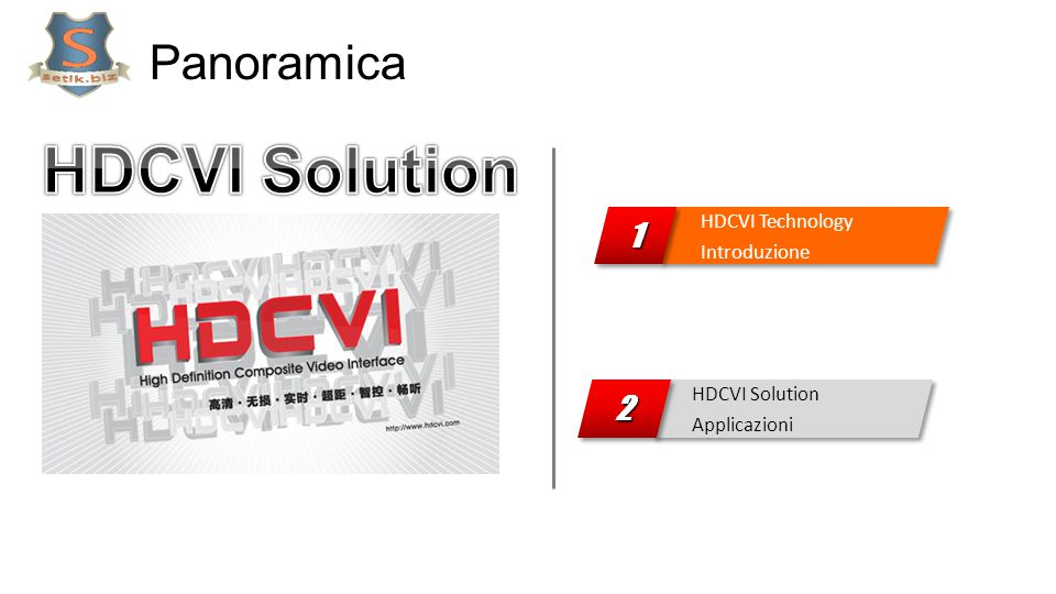 HDCVI Solution Panoramica 1 2 HDCVI Technology Introduzione