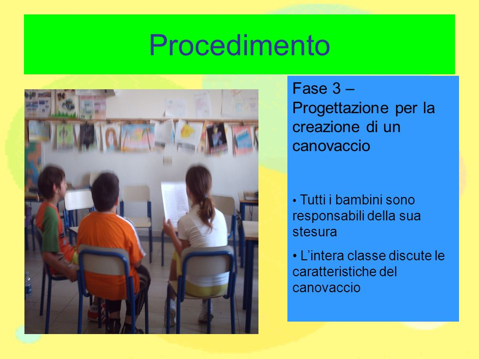 Procedimento Fase 3 – Progettazione per la creazione di un canovaccio