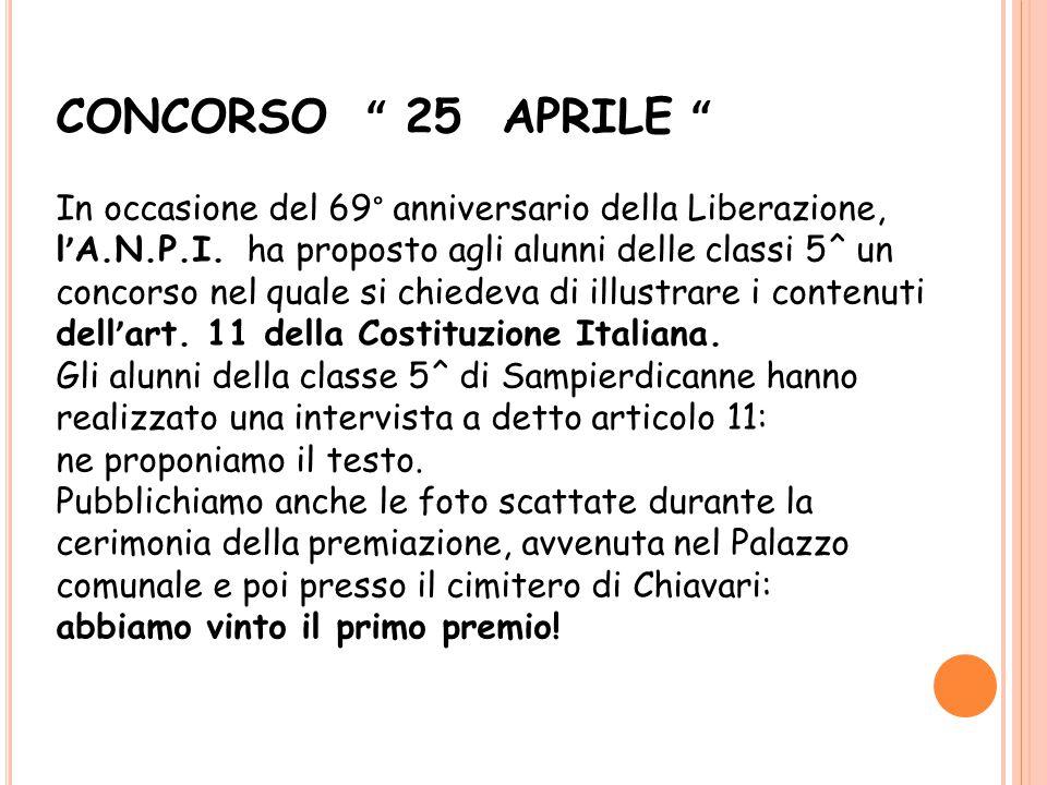 CONCORSO 25 APRILE