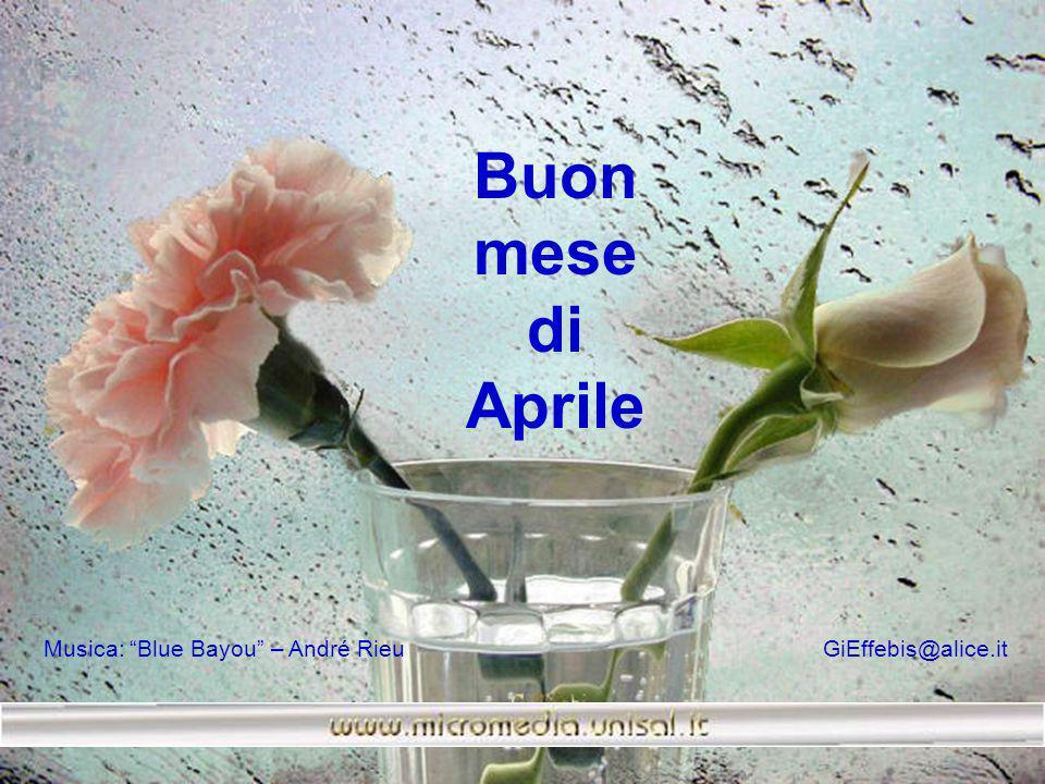 Buon mese. di. Aprile.