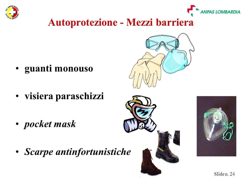 Autoprotezione - Mezzi barriera
