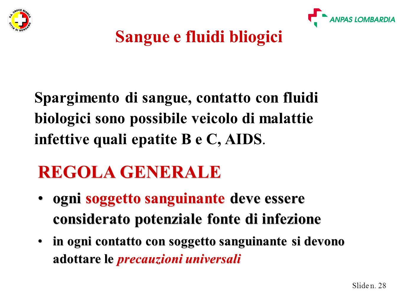 Sangue e fluidi bliogici