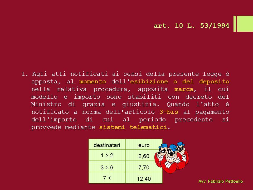 art. 10 L. 53/1994
