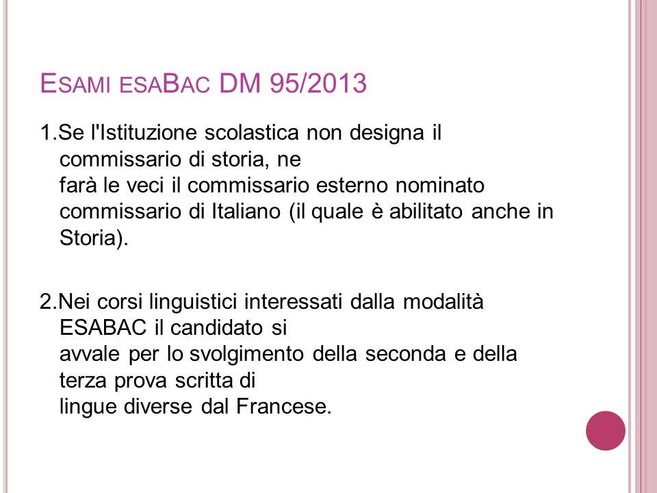 Esami esaBac DM 95/2013