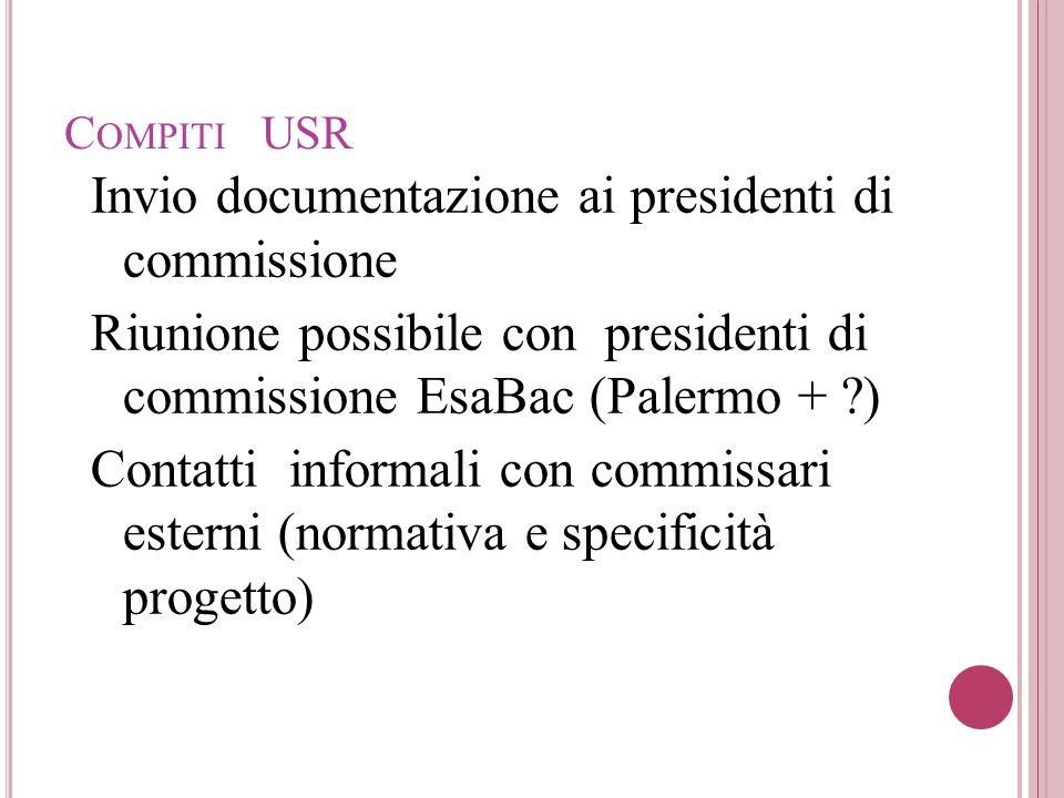 Invio documentazione ai presidenti di commissione