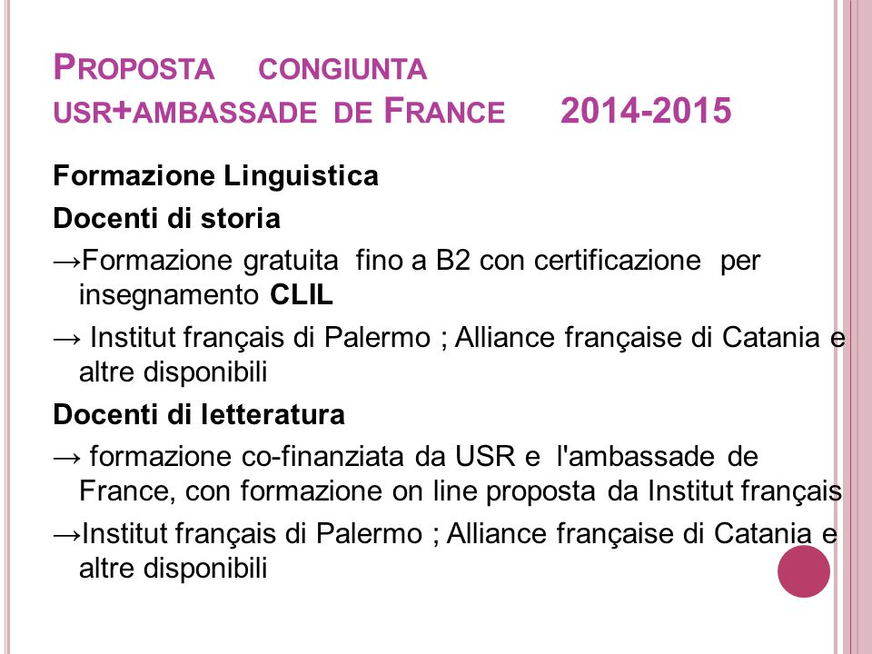 Proposta congiunta usr+ambassade de France 2014-2015