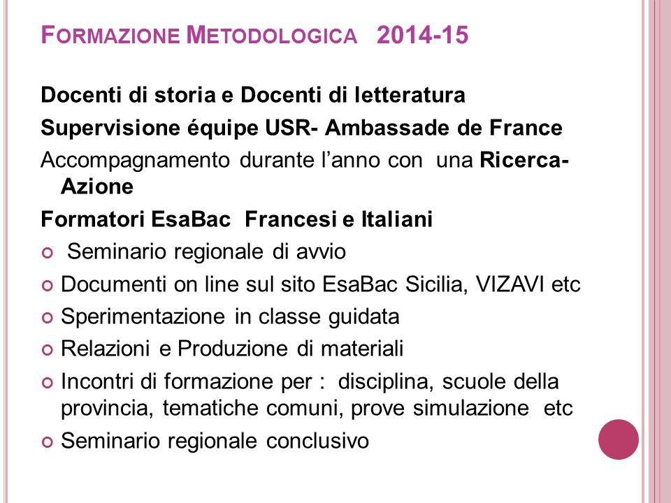 Formazione Metodologica 2014-15