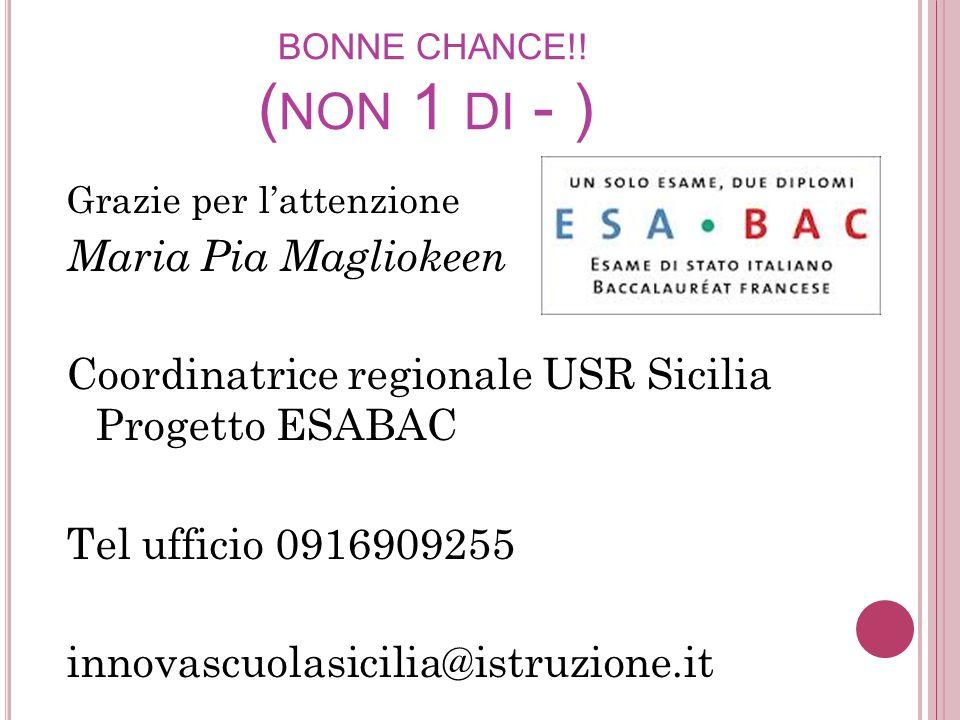 Coordinatrice regionale USR Sicilia Progetto ESABAC
