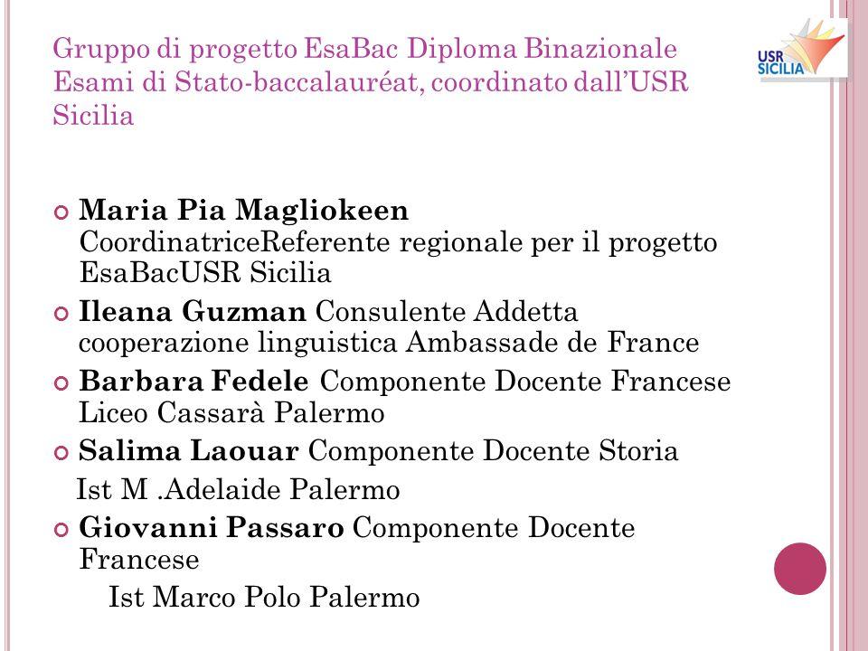 Barbara Fedele Componente Docente Francese Liceo Cassarà Palermo