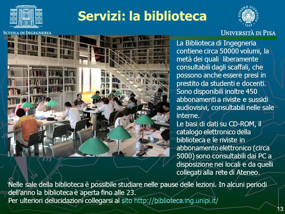 Servizi: la biblioteca