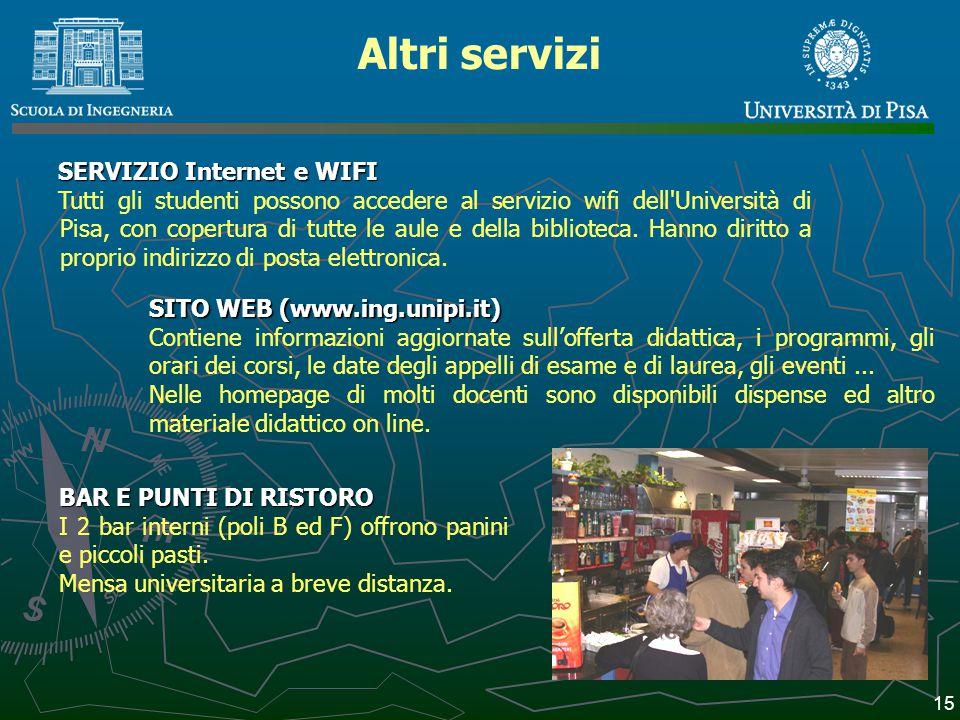 Altri servizi SERVIZIO Internet e WIFI